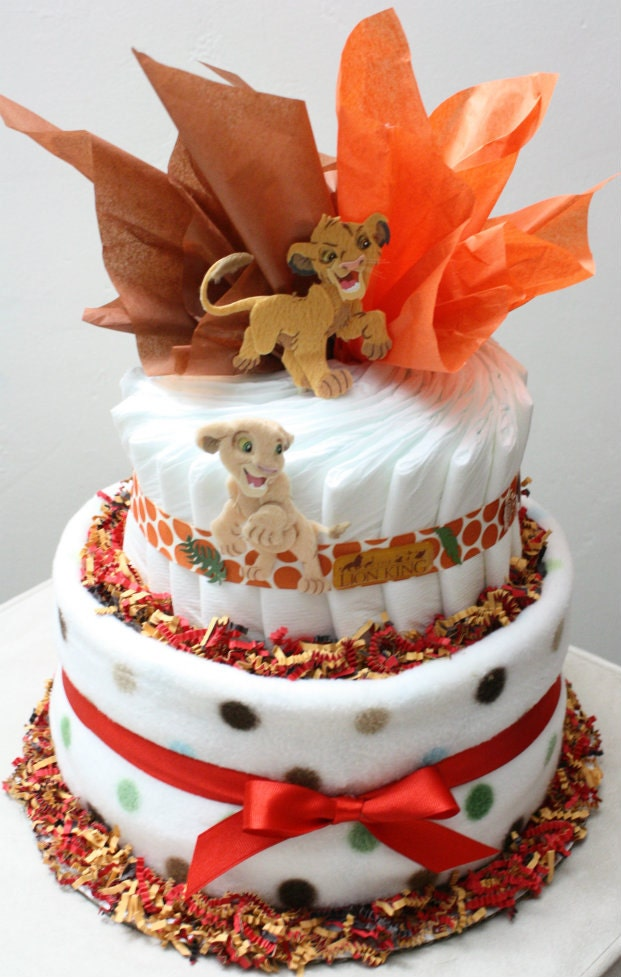 Lion King Diaper Cake By Mckaycakesncrafts On Etsy