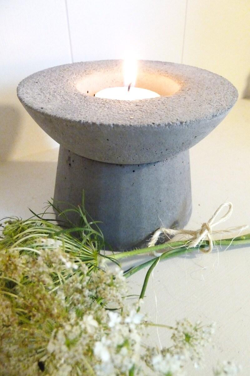 Concrete Votive Holder, Pedestal Candle Holder, Air Plant or Succulent Planter, Concrete Planter, Concrete Decor