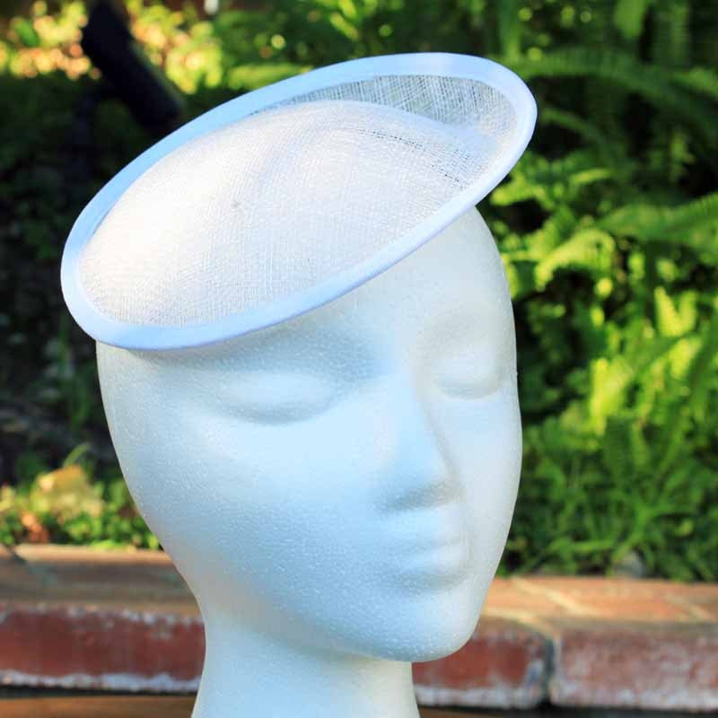 Small Saucer Hat Base White Sinamay Hat Form By Moxiemilliner