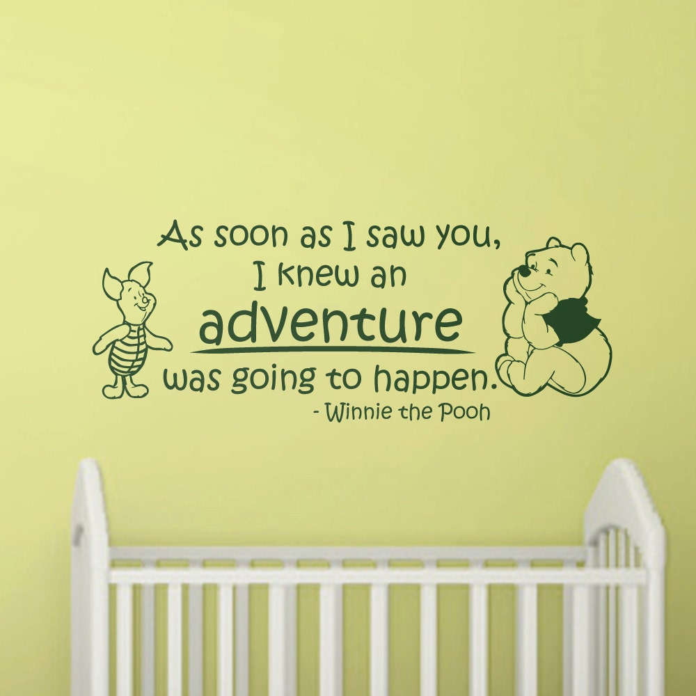 Wall Sticker Quotes For Nursery : Nursery wall decal quote winnie the pooh by wallstickums