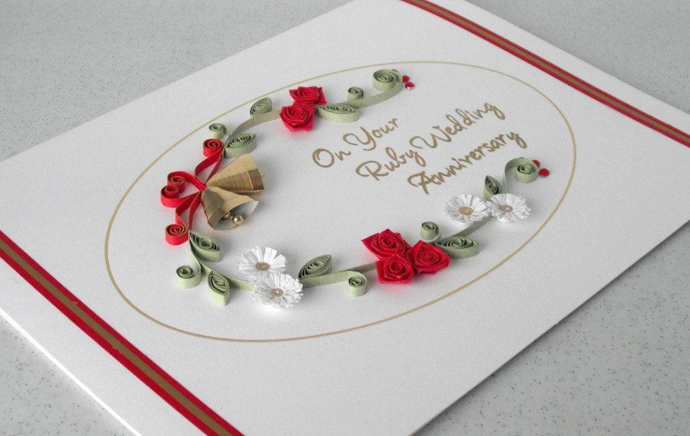 Открытки с годовщиной свадьбы 40 лет своими руками