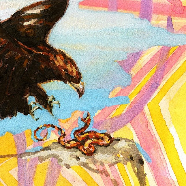 Eagle Vs Snake at Bees and Trees on Etsy