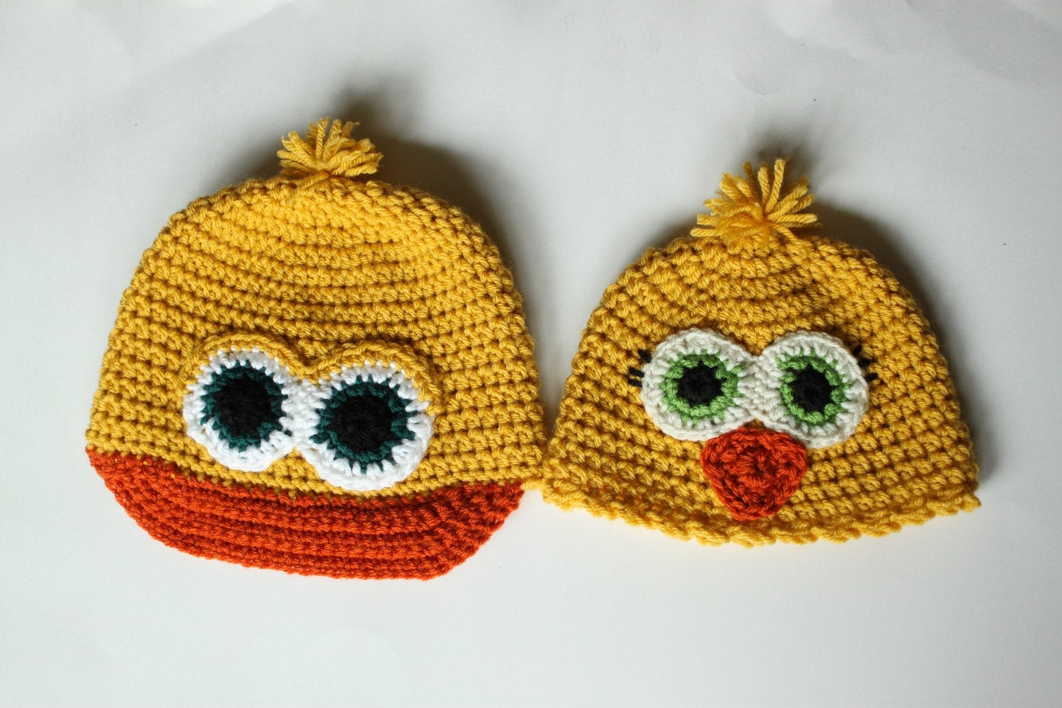 Crochet Baby Duck Pattern : Items similar to Duck or Chick Hat Crochet Pattern (Baby ...