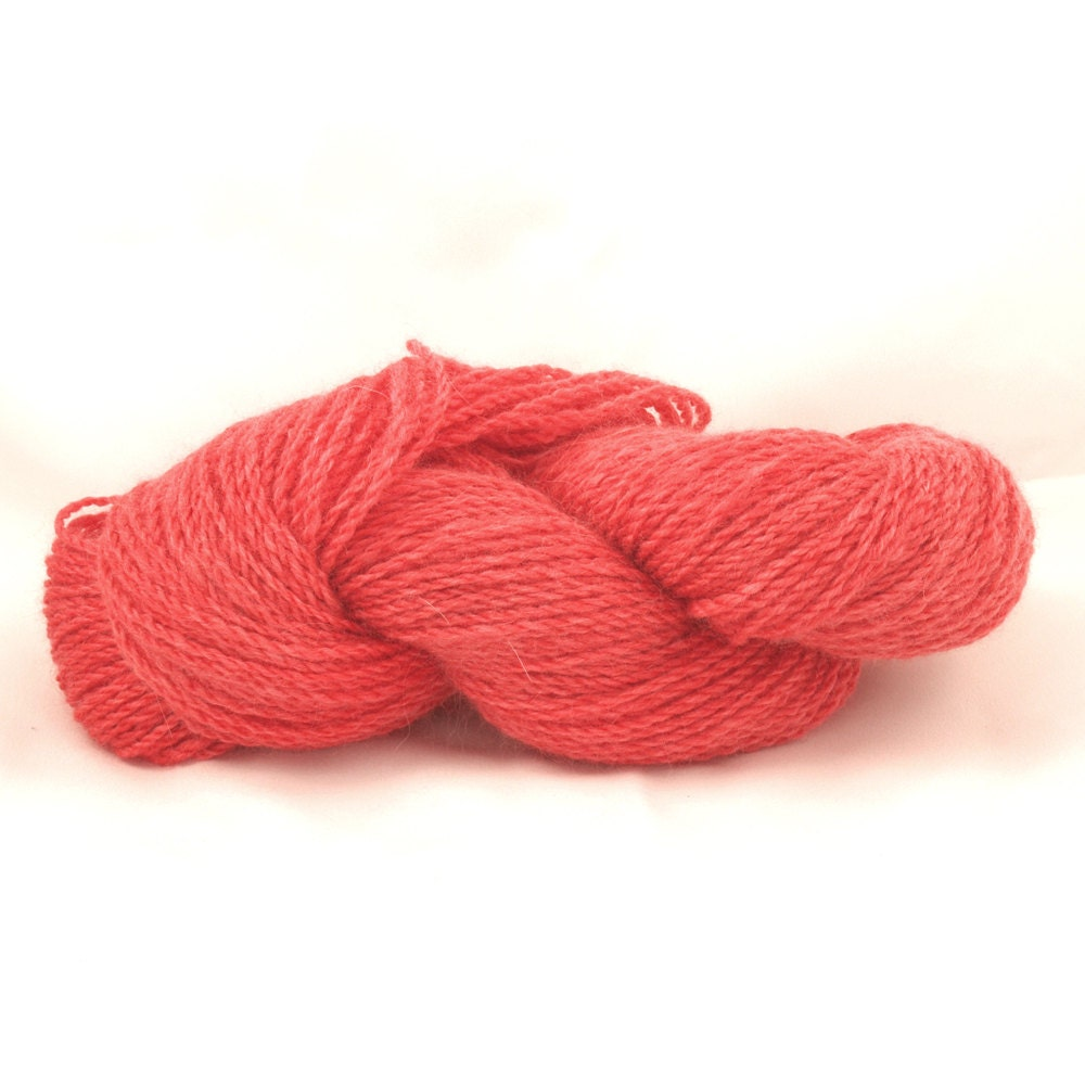 Watermelon angora/ merino sport weight yarn, 200 yds, S60901