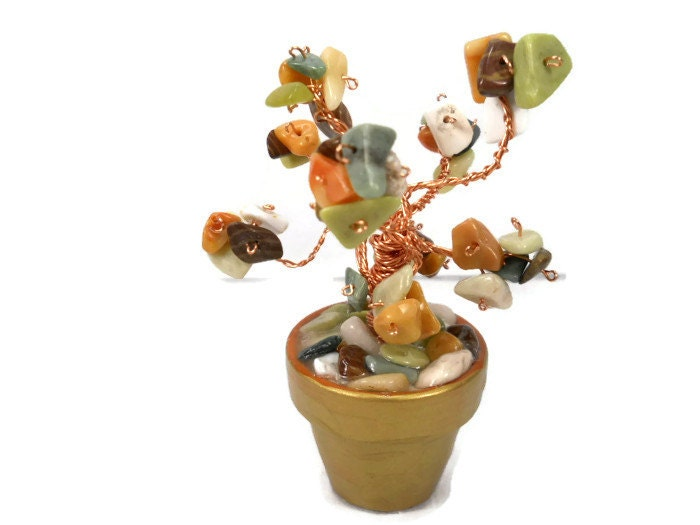 Desert Bloom:  Tree Wire Art - lifetimeofhandmade
