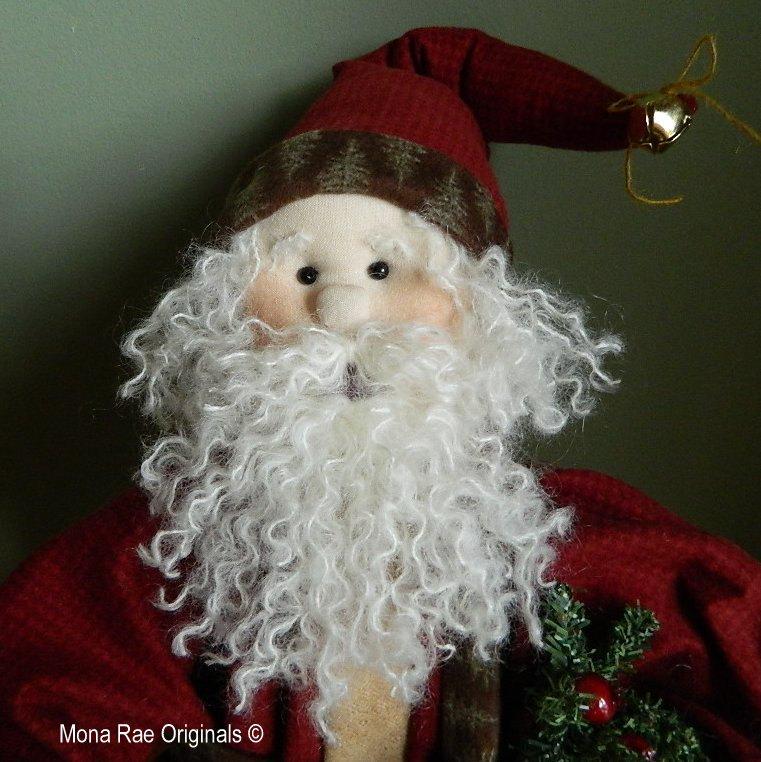 "Santa Soft Sculpture Doll - Papo Noel - 28"" Tall - MROriginals"