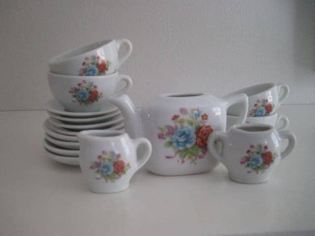 Vintage Little Lady By Jaymar Toy China Tea Set By Fuzzymama