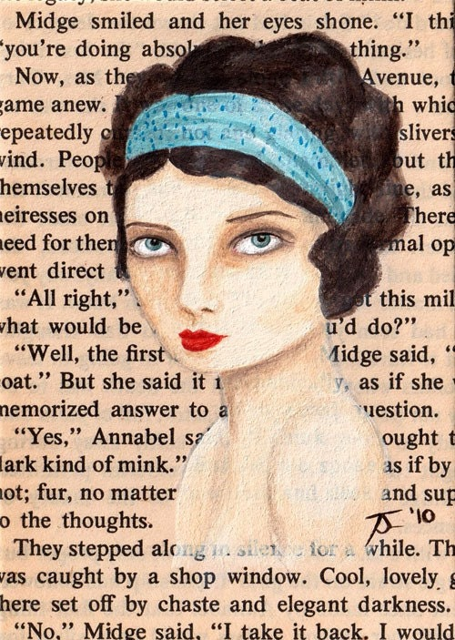 Limited Edition ACEO Print 2 of 20 - New York, 1923 - Maude Had Piercing Blue Eyes and A Silk Scarf To Match