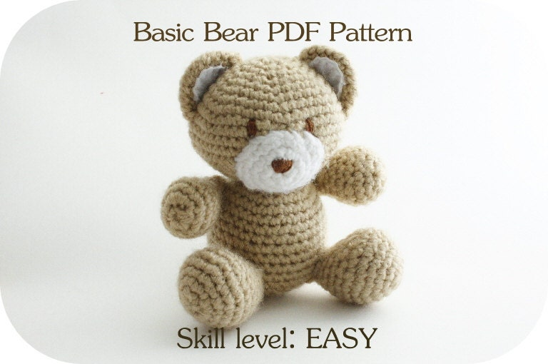 Crochet Patterns Animals : Free Easy Crochet Teddy Bear Patterns