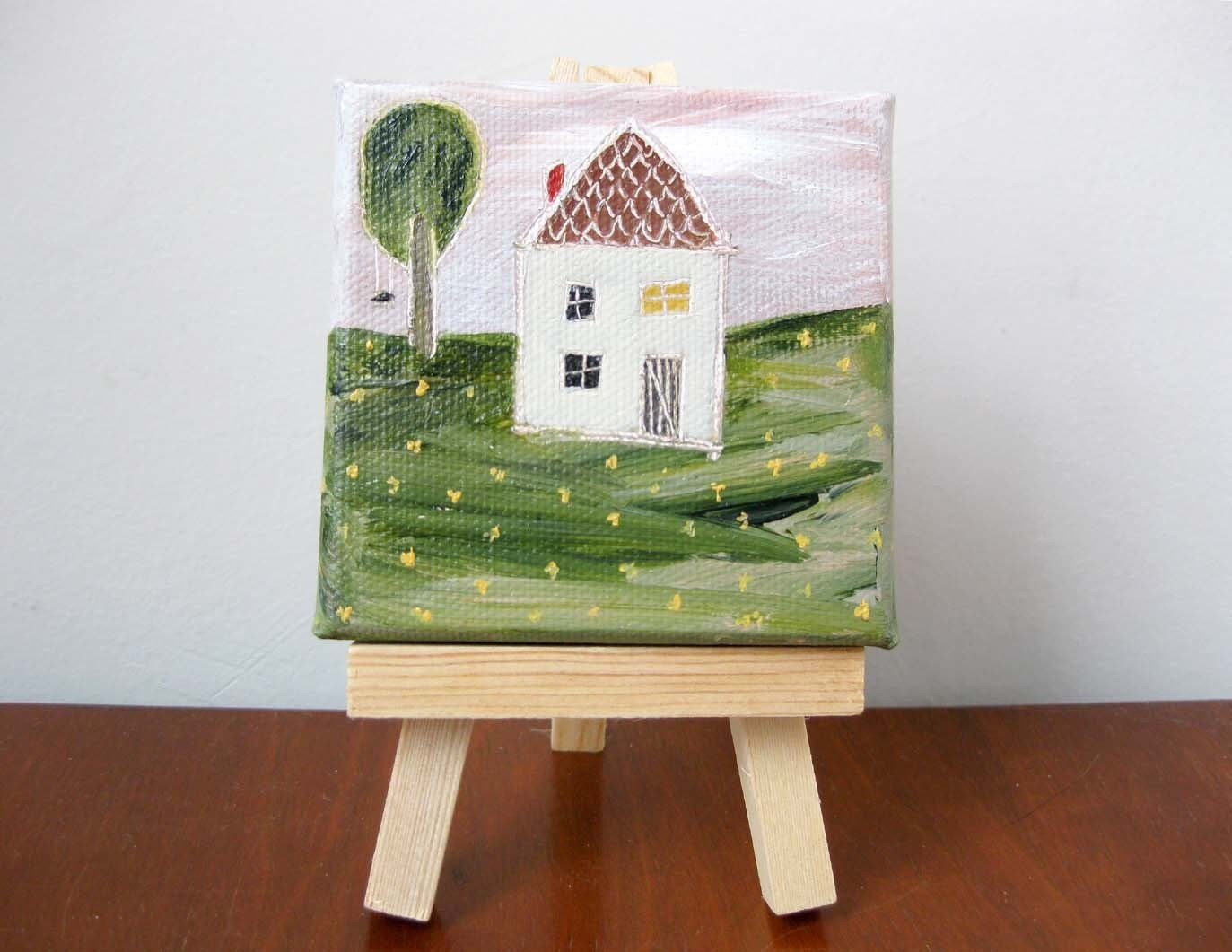 home sweet  home II (tiny original painting)