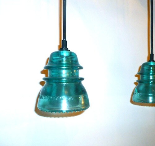 Unavailable listing on etsy for Antique insulator pendant lights