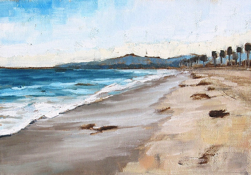 Santa Barbara California Beach Landscape Painting