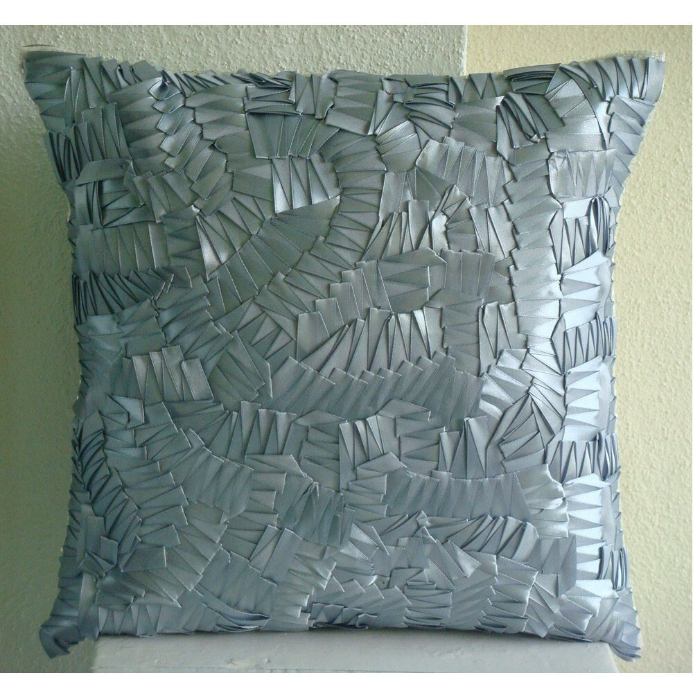 Throw Pillow Covers 26x26 : Euro Sham Covers 26x26 Silk Ribbon Embroidered by TheHomeCentric