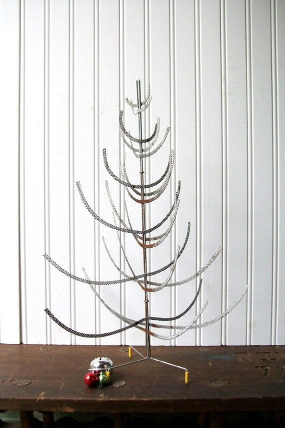 Vintage Wire Mesh Christmas Tree Industrial Urban Chic