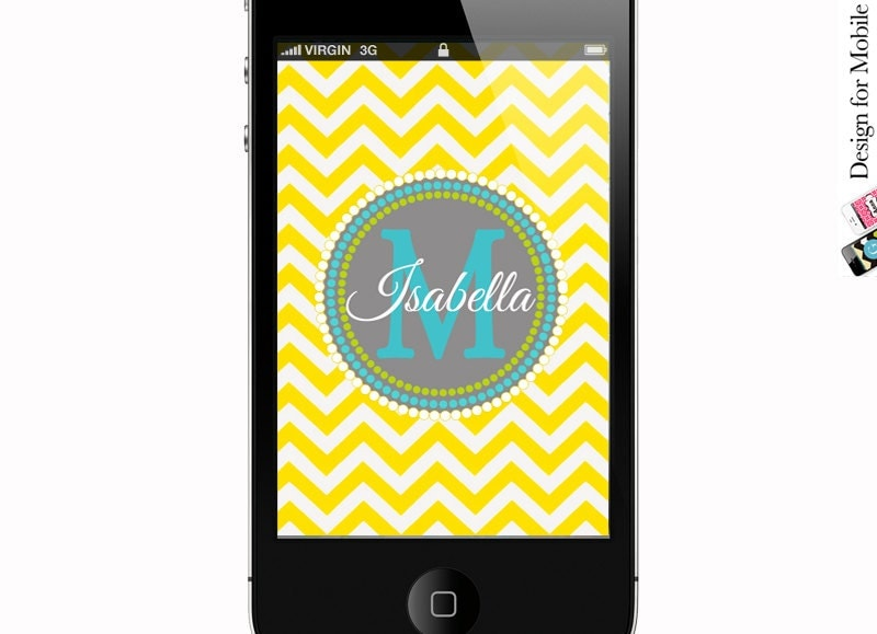 chevron monogram iphone 5 wallpaper - photo #2