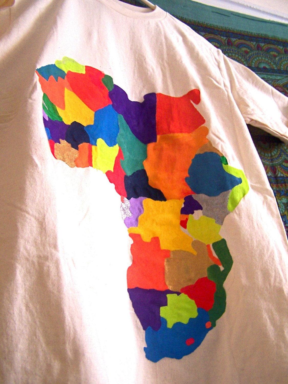 Africa Political (organic handpainted t-shirt)