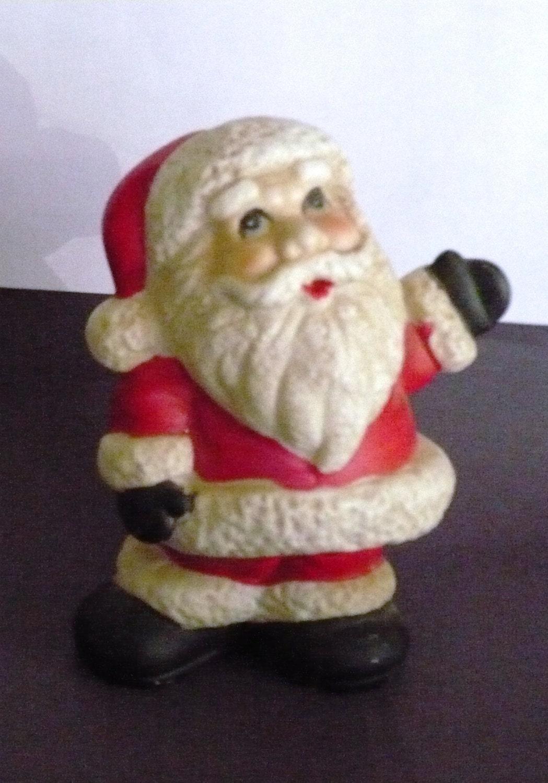 Vintage christmas santa claus ceramic figurine by