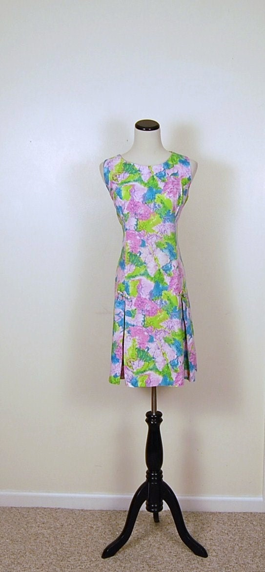Vintage Lime and Pink Scooter Dress