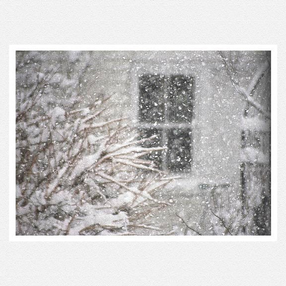 Monochromatic, Snow, black and white, blizzard, winter home decor, Come To My Window, fine art photography print 8x10 - moonlightphotography