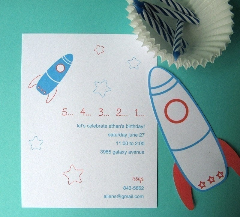 Printable Space Birthday Party Invitation PDF