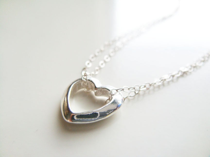 Classic Heart Necklace - Sterling Silver