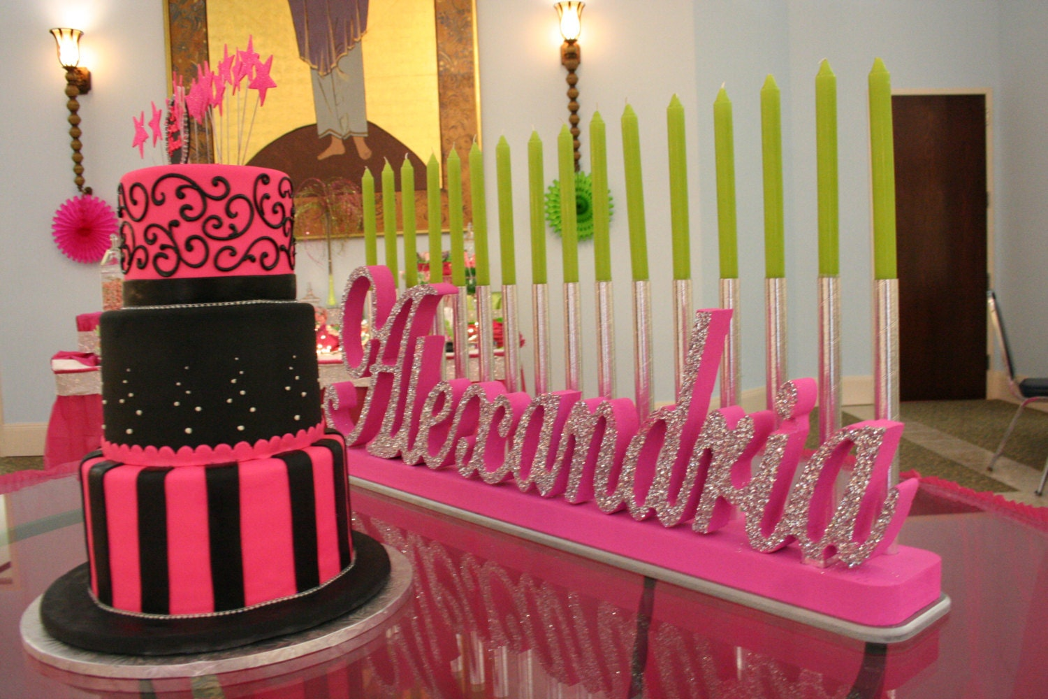 Sweet 16 Bat Mitzvah Candle Lighting Board By Namewithflame