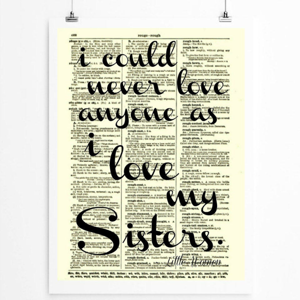Wall Art Quotes For Sisters : Sister quote sisters art sorority wall by reimaginationprints