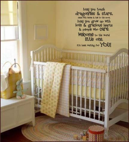 wall quotes for nursery. Words Quote Baby Nursery