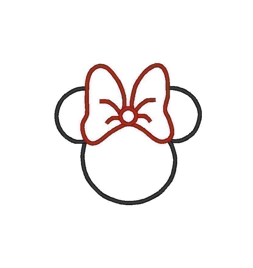 Shocking image inside printable minnie mouse head template