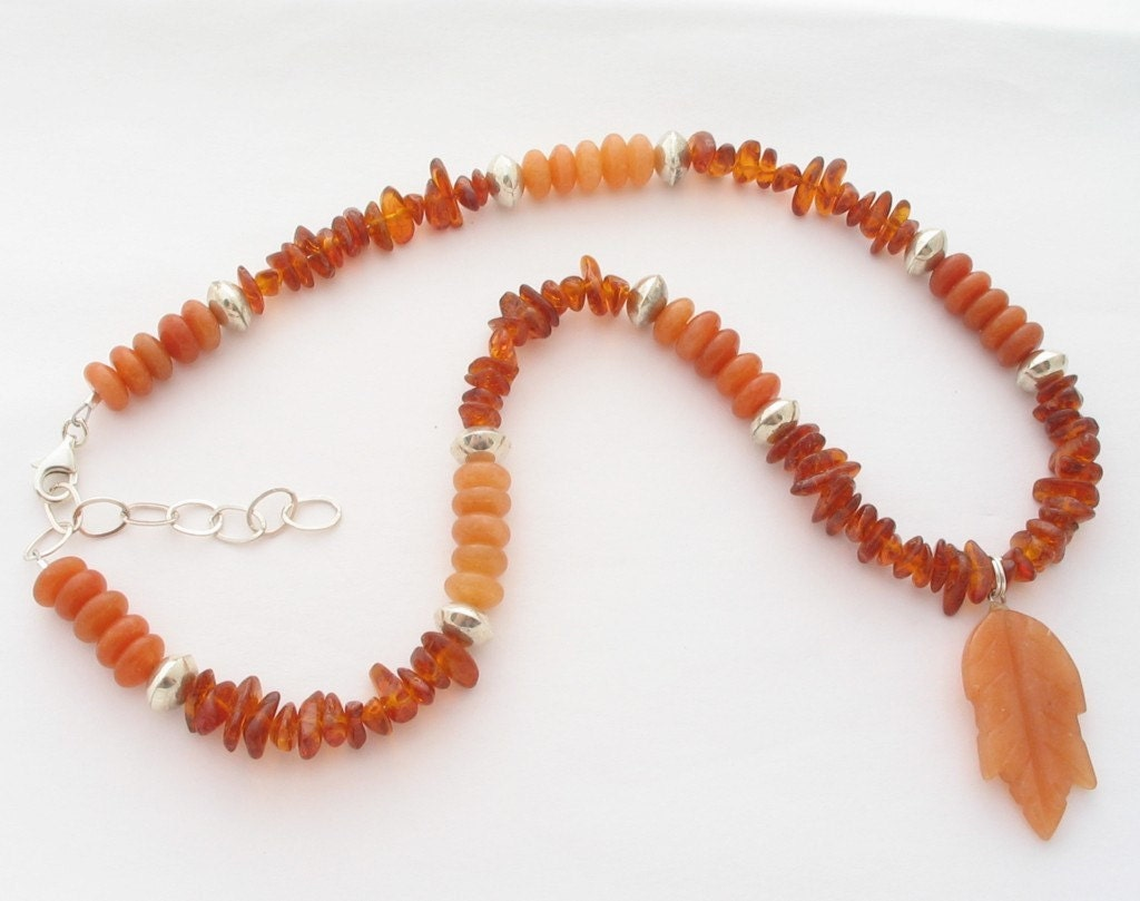 Etsy Shades of Orange Harvest Moons necklace jewelry jewellery pendant