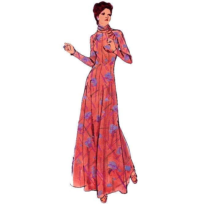 cowl neck evening dress
