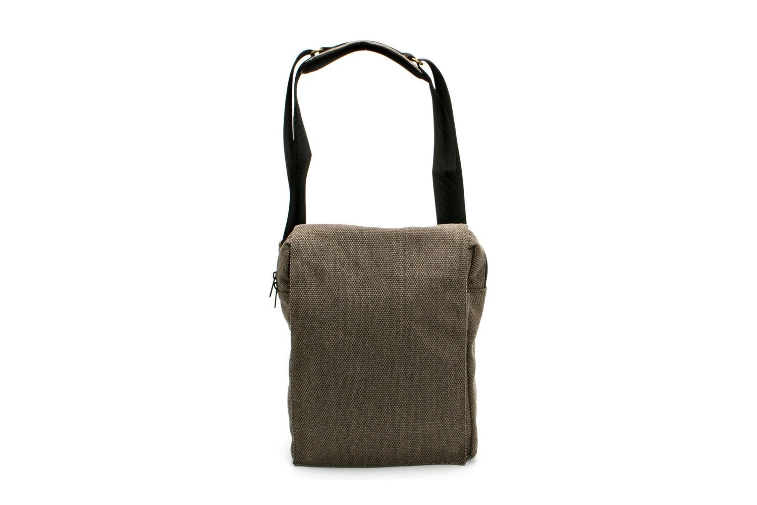 iNiko - Grey Canvas Padded iPad, Netbook, eReader Messenger Bag with Adjustable Strap