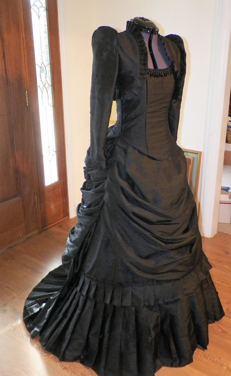 Victorian Steampunk Gothic Mardi Gras Venice Wedding Ball Gown Bustle Dress Reproduction Costume - Showbelles