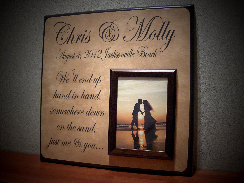 Customized Wedding Picture Frames : Custom Wedding Picture Frame Personalized by YourPictureStory