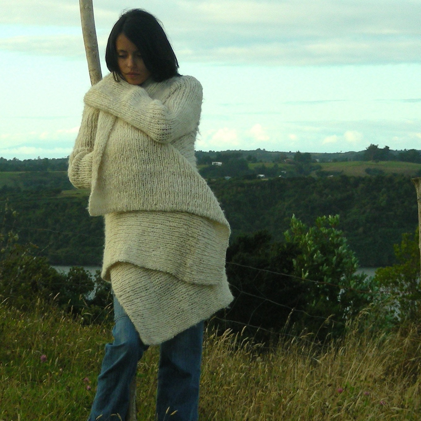 thick wool knitten coat