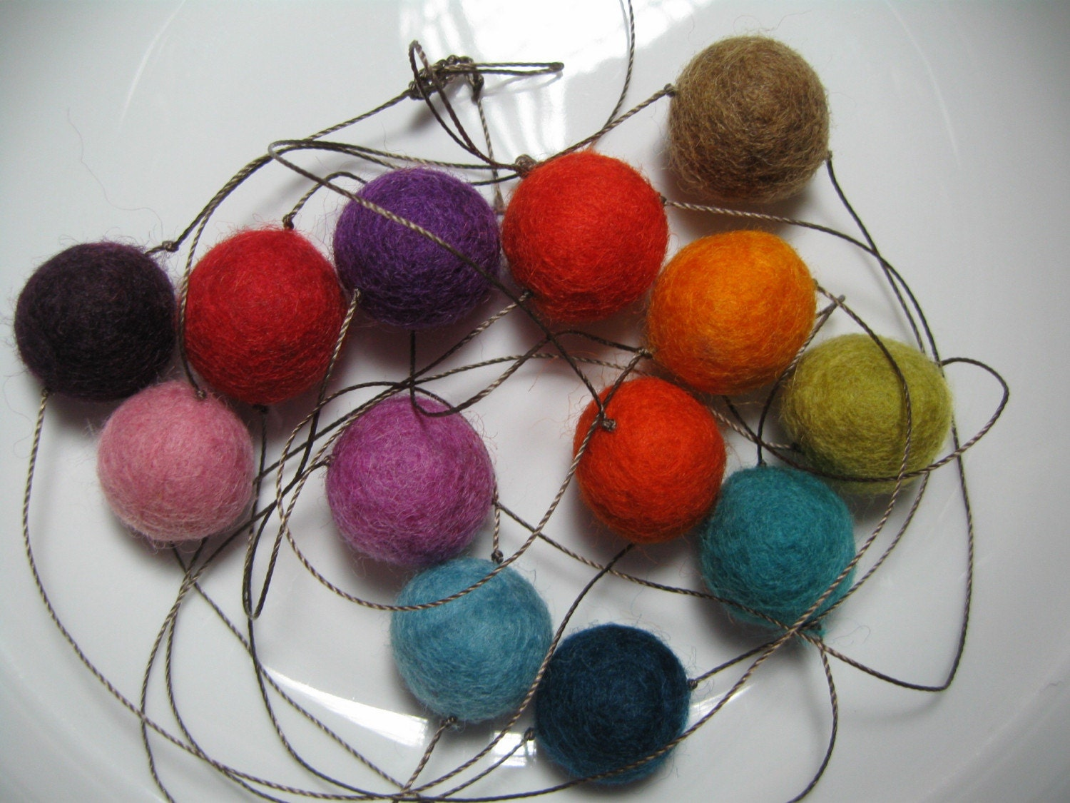 Felt Ball Garland -- multicolored