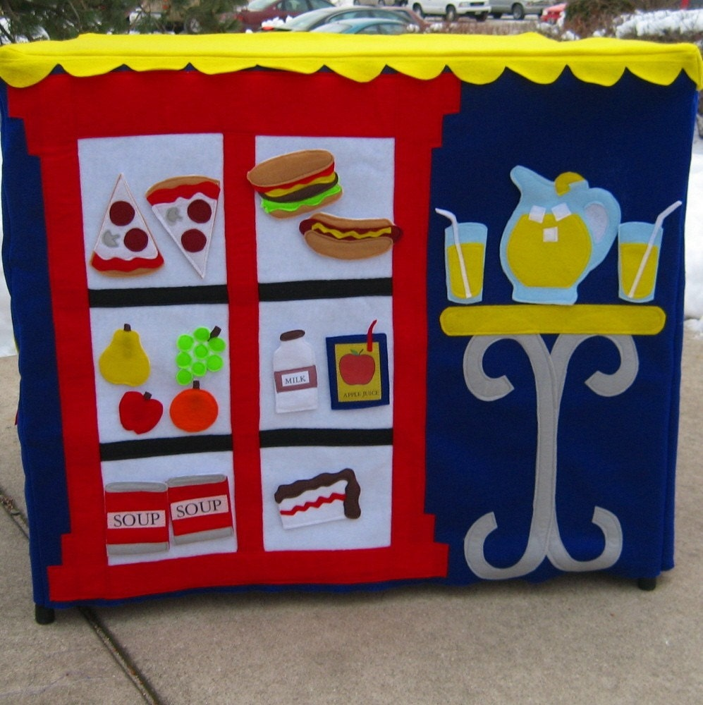 Neighborhood Cafe Card Table Playhouse, Personalized, Custom Order