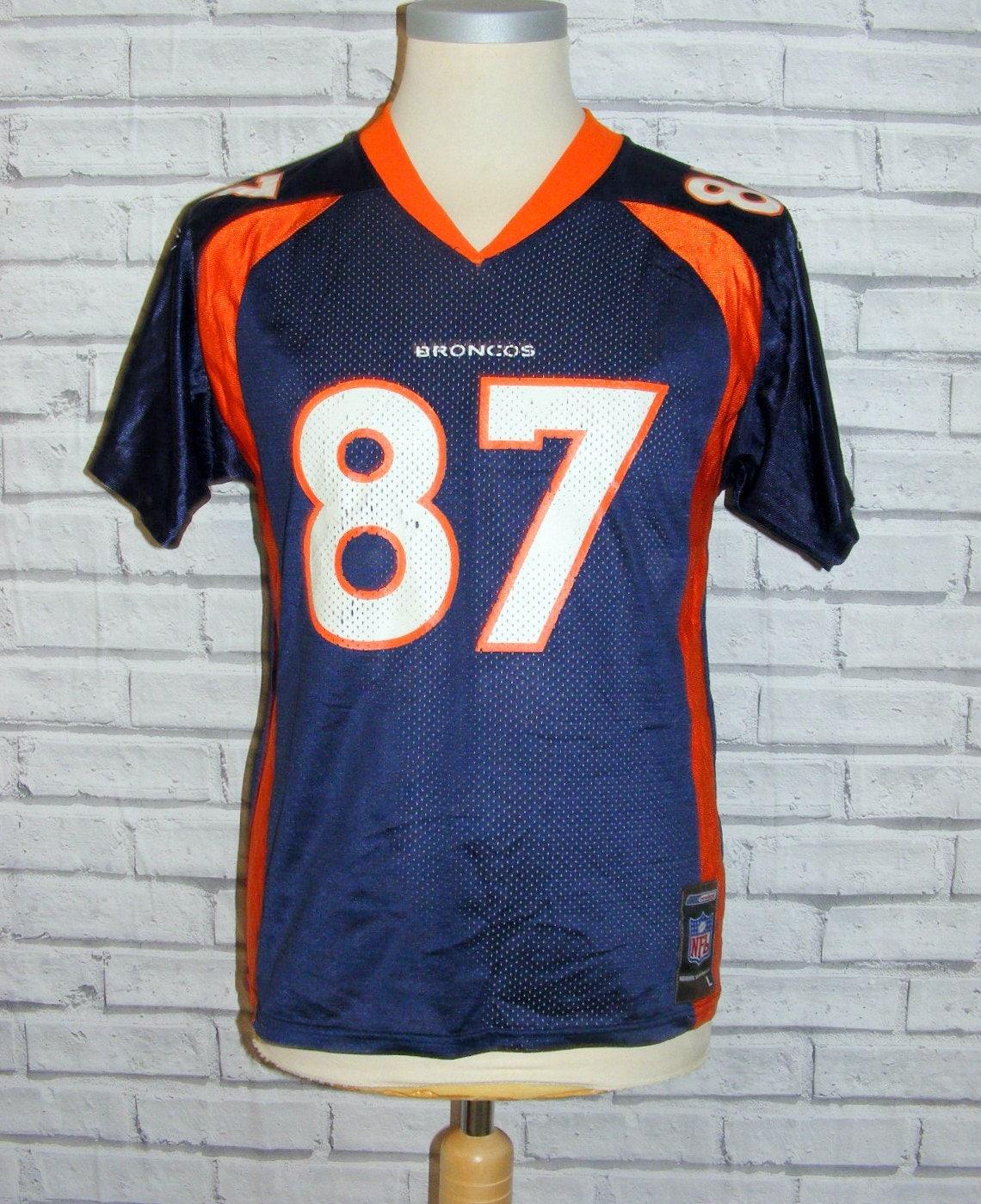 Size S 36 vintage 80s Reebok american football tshirt top navy mesh (HY26)