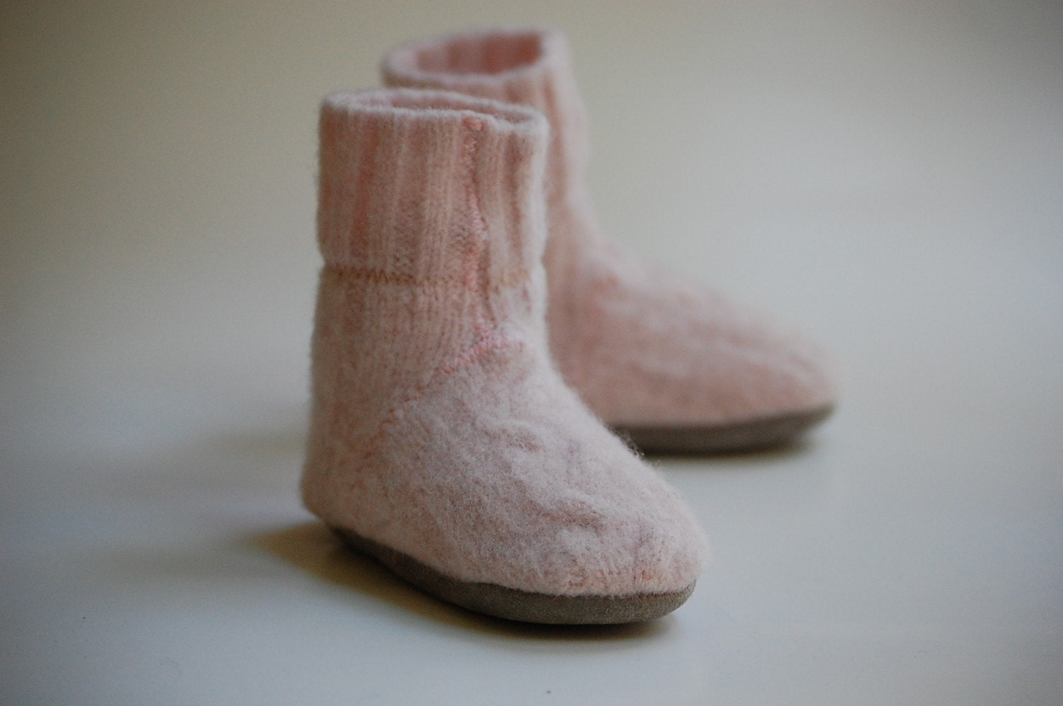 Dresses from Grandma...Lambswool Slippers from Upcycled Sweater, Sizes newborn - 4 years