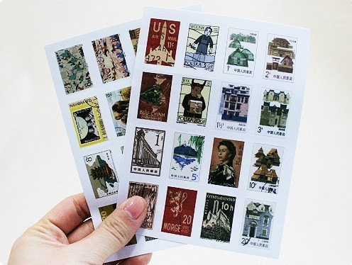 Postage Stamp Collection Sticker Set - Europe