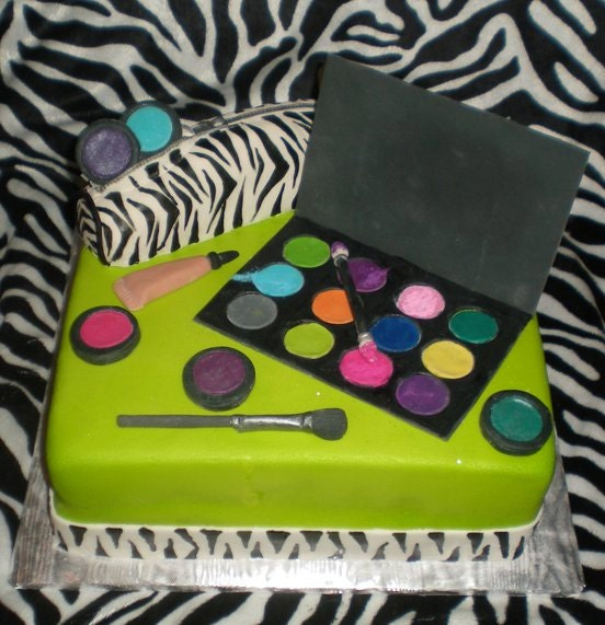 Etsy Cake Decorations : Makeup Cake Decorations by CakeFreak on Etsy