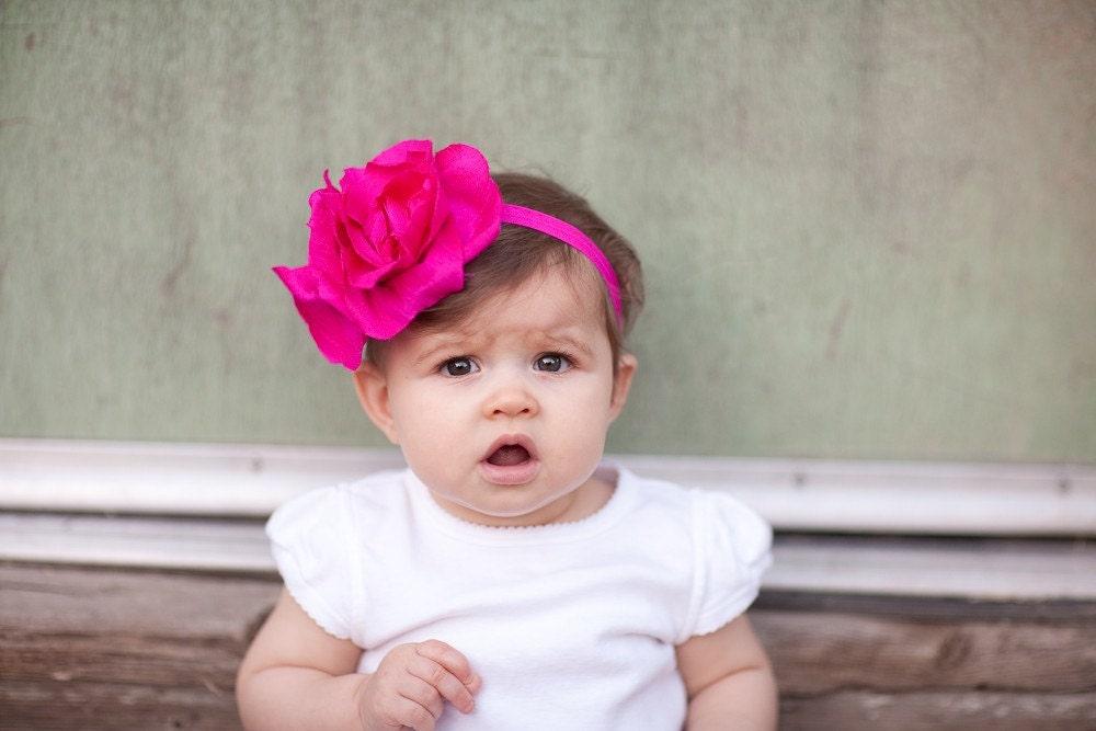 Fuschia and Fun- A flowery headband