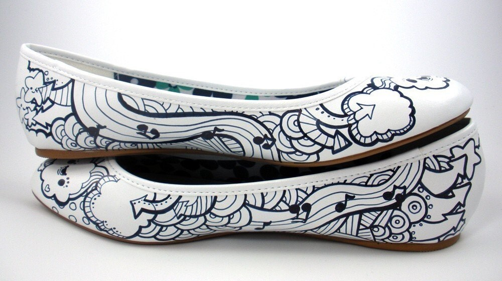 Music Black n White Shoes Women's 7US 4.5UK 37.5EUR 5.5AUS