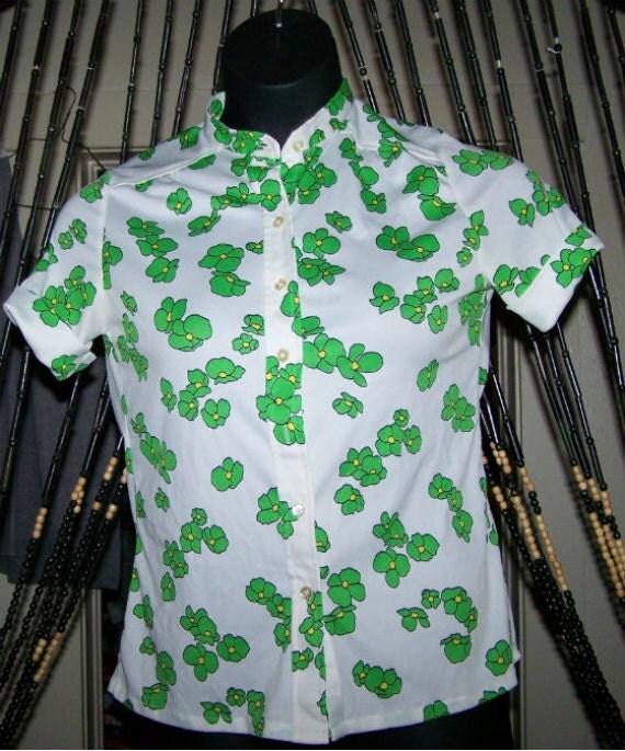 Vintage Green Floral Shirt