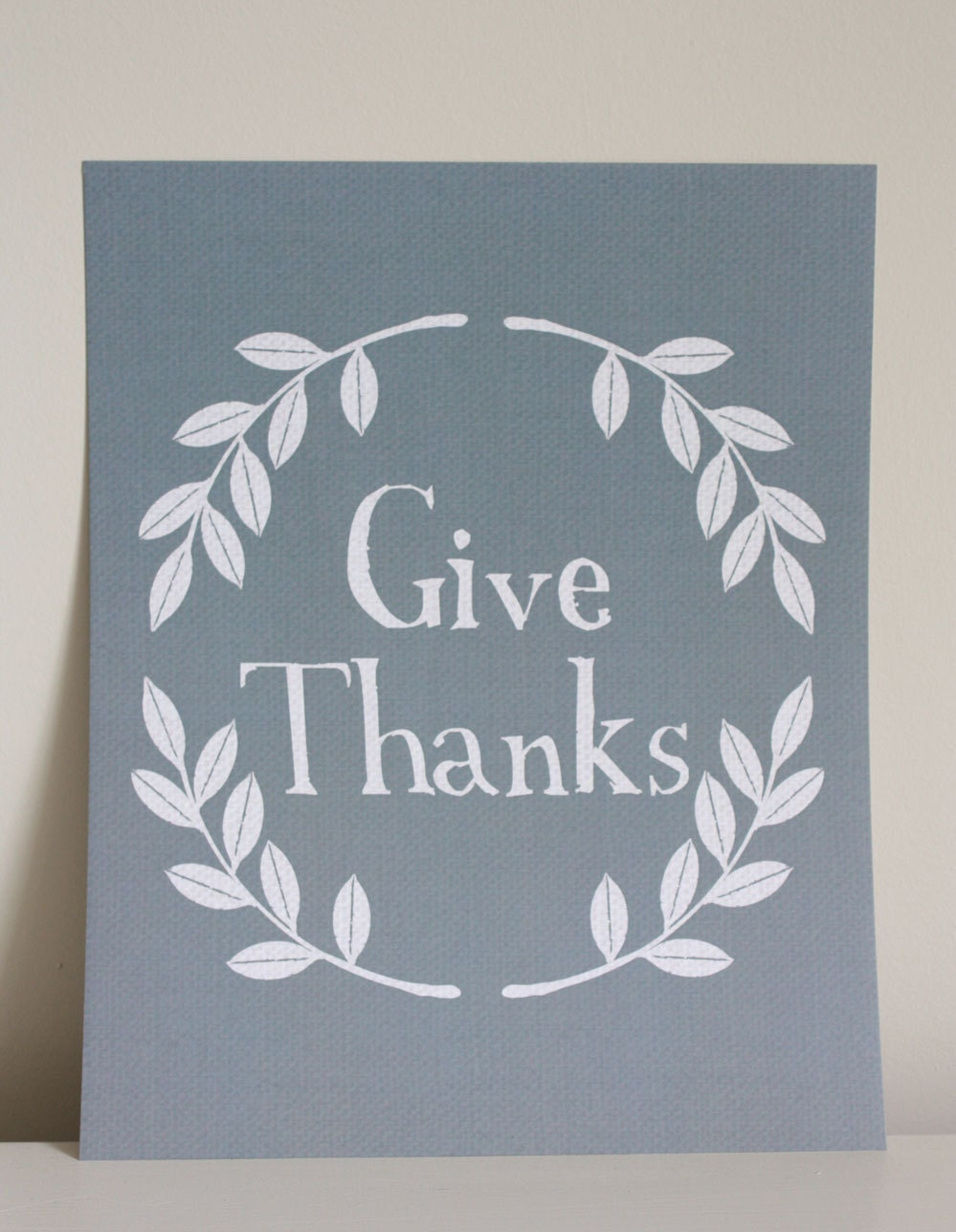8x10 Give Thanks print