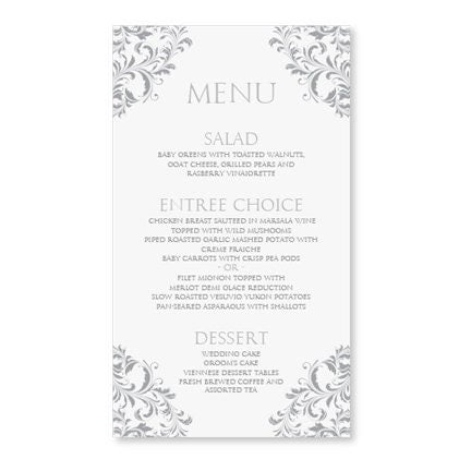 menu card templates free download
