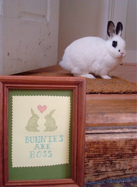 Bunnies are Boss Gocco print