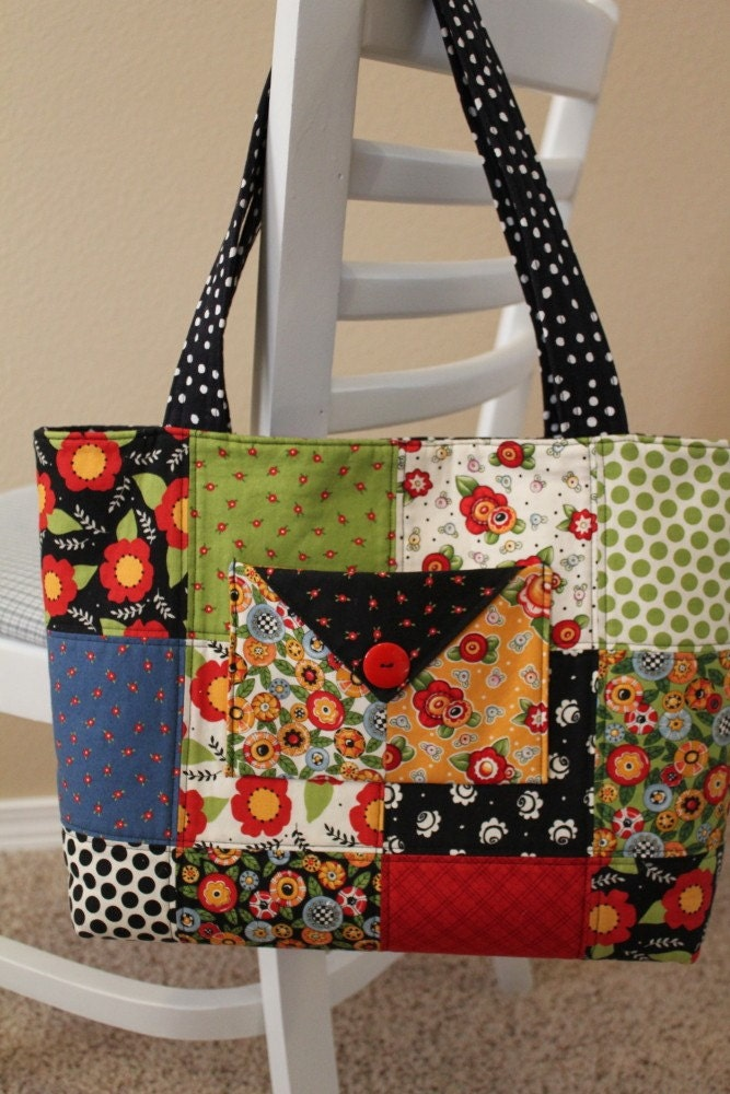 Attitude Girls Charm Tote - Mary Engelbreit for Moda Fabrics