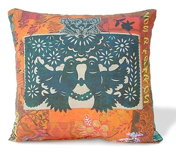 LOVE BIRDS Decorative Pillow 18x18 by arribachica on Etsy