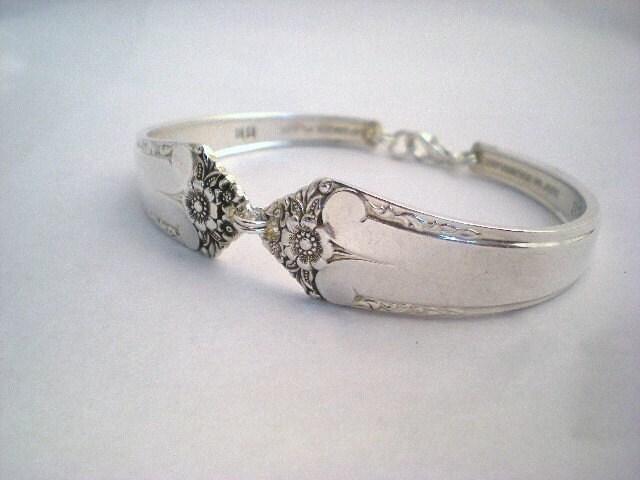 Vintage Spoon Bracelet Silverware Jewelry Silver - STARLIGHT 1950